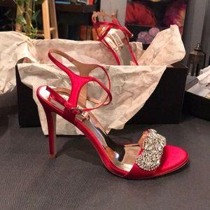 Badgely mischka red sandals size 9
